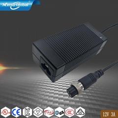 12V3A桌面式电源适配器 36W电源适配器