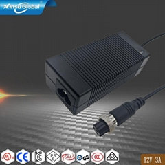 12V 3A desktop ac adapter