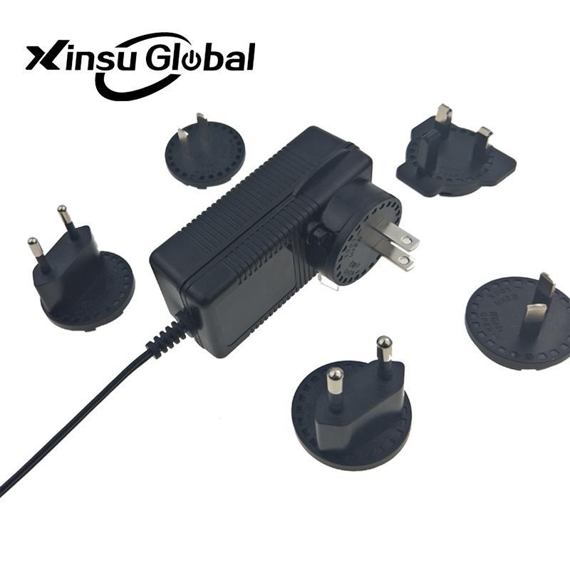 UL PSE GS认证48V1.5A 可换插头/转换脚电源适配器 2