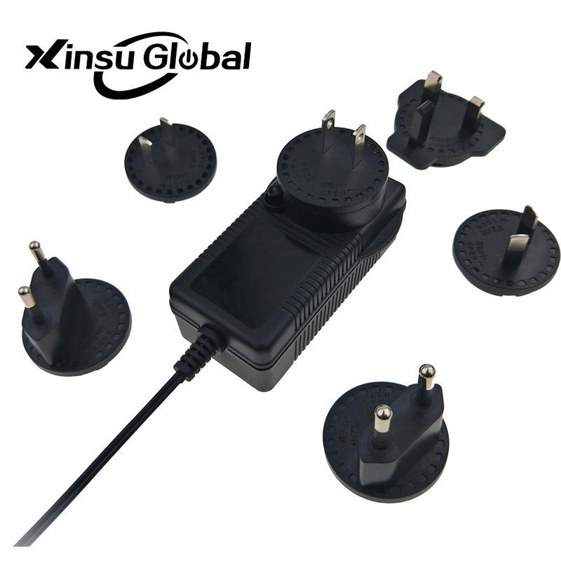 UL PSE GS认证48V1.5A 可换插头/转换脚电源适配器 4