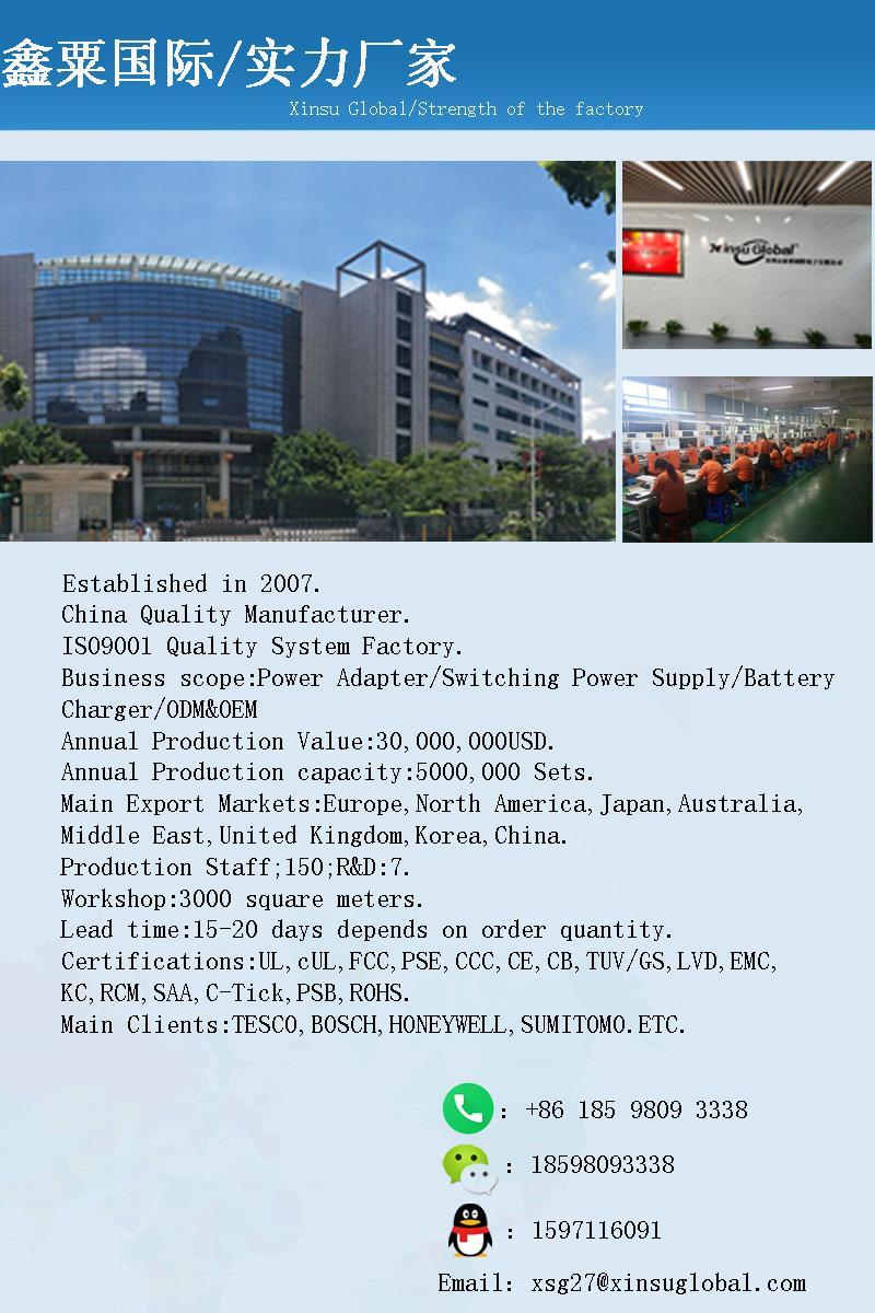 UL PSE GS认证48V1.5A 可换插头/转换脚电源适配器 16