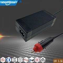 厂家直销63W 18V3.5A桌面式电源适配器
