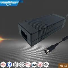 24V5A 120W电源适配器 监控摄像头发光模块开关电源