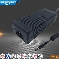 135W  15V9A开关电源适配器 安规认证桌面式电源适配器