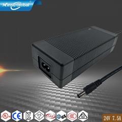 UL GS PSE認証24V7.5A開關電源適配器