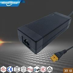 ul62368認証36V6A AC電源適配器
