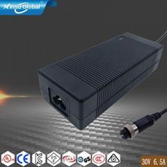 UL FCC KC认证30V6.5A 200W 大功率开关电源适配器