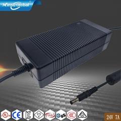 UL认证24V7A电源适配器 24V7A适配器 桌面式开关电源