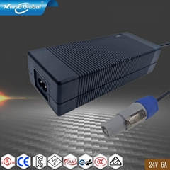 EN62368 24V 6A  AC DC power Adapter