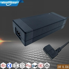 IEC62368认证 24V8.33A电源适配器 DOE六级能效认证