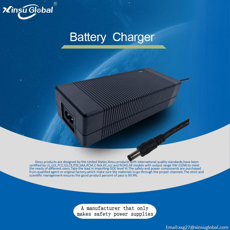 CE ROHS UL FCC PSE KC认证锂电池充电器 29.4V2A 6