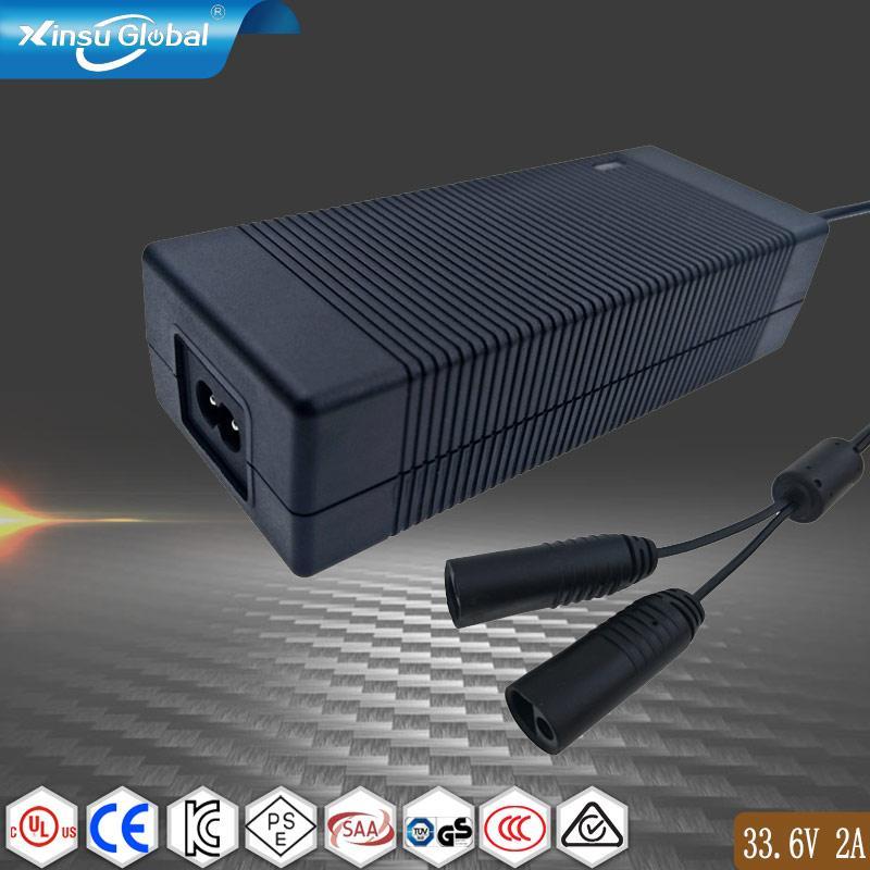 工廠直銷33.6V2A鋰離子電池充電器 8串鋰電池組充電器 1