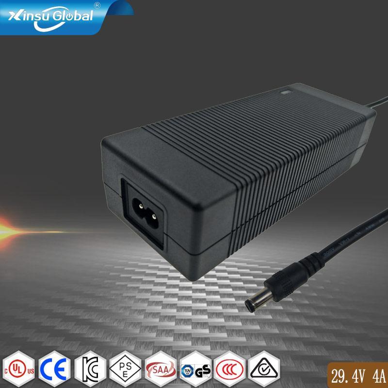 UL60335认证29.4V4A锂电池充电器 7串锂电池组充电器 1