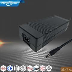 UL60335认证29.4V4A锂电池充电器 7串锂电池组充电器