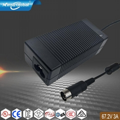 供應優質67.2V3A鋰電池充電器 大功率桌面式充電器