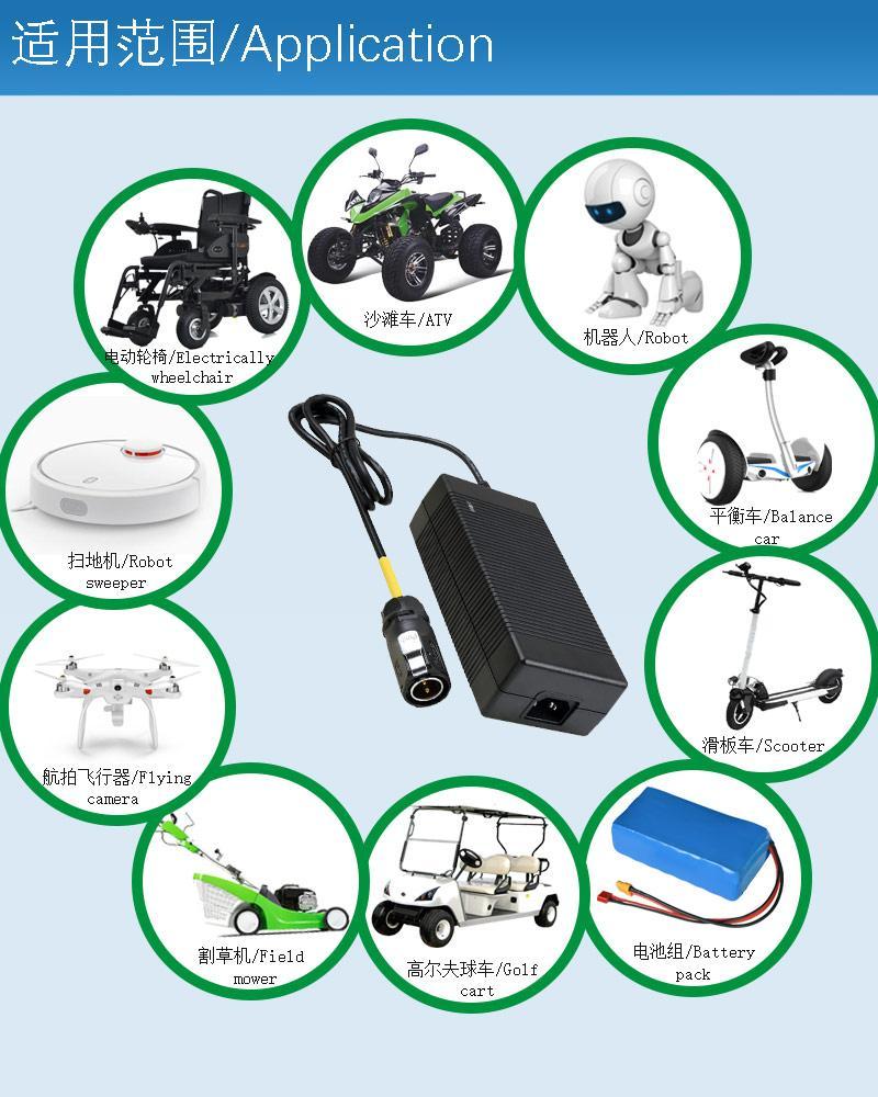 供應優質67.2V3A鋰電池充電器 大功率桌面式充電器 15