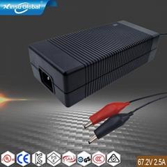 电源厂家批发67.2V2.5A锂离子电池充电器 认证齐全