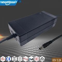 开关电源厂家销售63V3.2A锂电池充电器