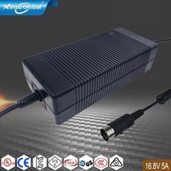 CE UL PSE UL SAA认证16.8V5A 18650锂电池充电器