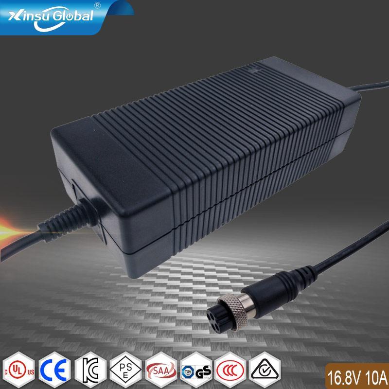 16.8V10A鋰電池充電器 UL GS PSE認証4串鋰電池組充電器 1