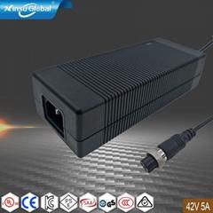 UL KC PSE认证42V5A锂电池充电器 10串锂电池组充电器