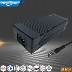 PSE UL认证 58.8V2A 锂离子电池充电器