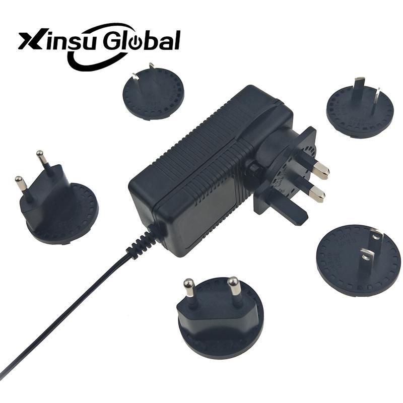 12.6V3A 转换头锂电池充电器 可换插脚电池充电器 3