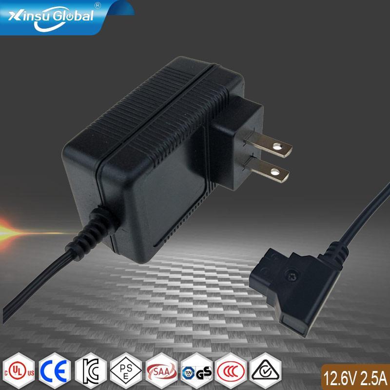 SAA RCM C-Tick认证 12.6V2.5A锂电池充电器 1