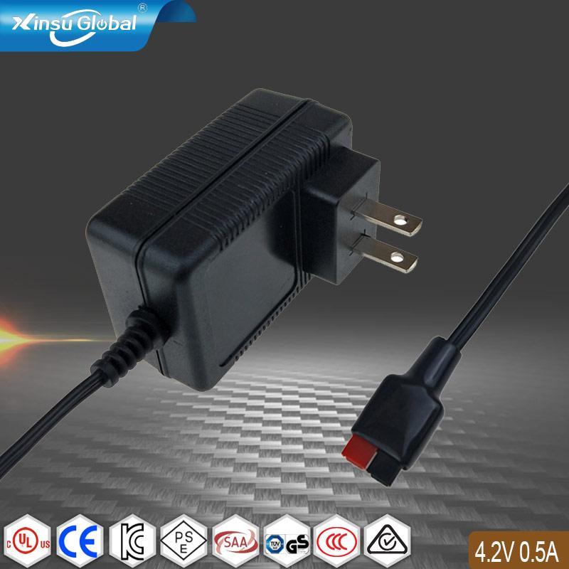 日本PSE认证 4.2V0.5A锂电池充电器 1
