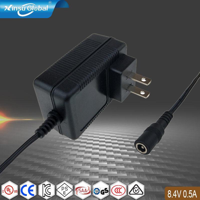 PSE认证 8.4V0.5A锂电池充电器 1