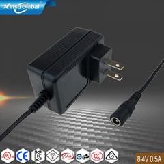 PSE认证 8.4V0.5A锂电池充电器