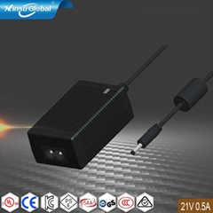 IP65防水等级充电器 21V0.5A防水锂电池充电器