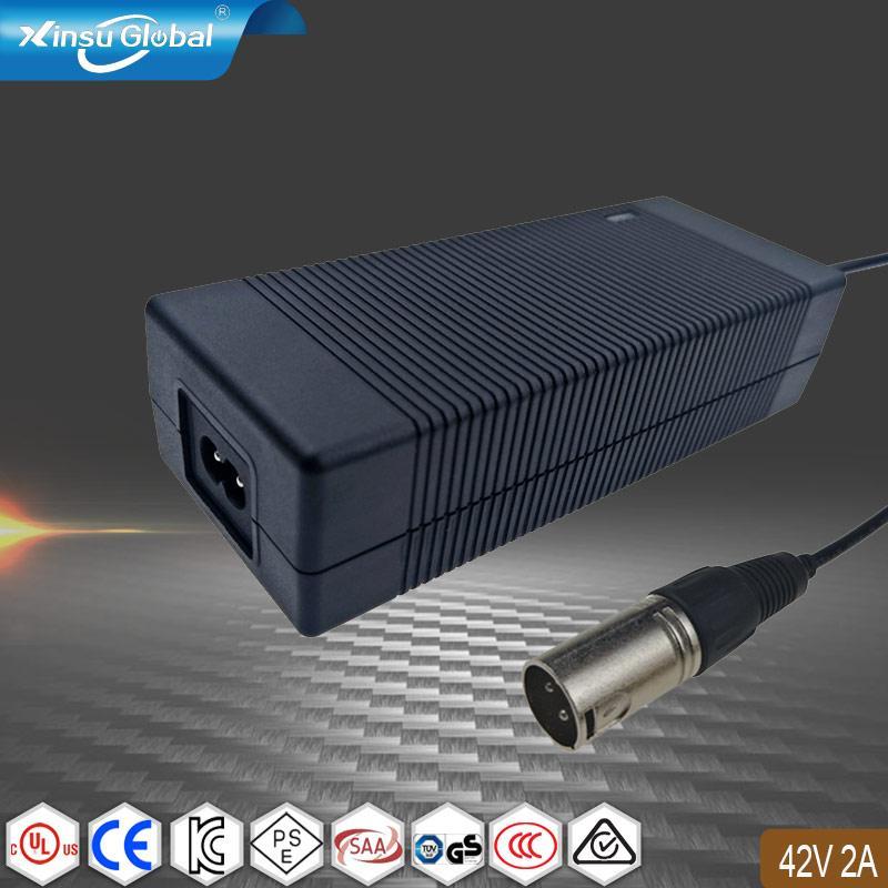 42V2A锂电池充电器 可折叠电动自行车充电器 1