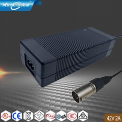 42V2A锂电池充电器 可折叠电动自行车充电器