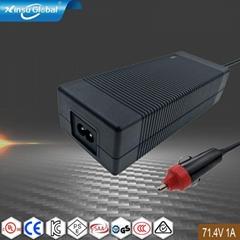 美规 欧规 日规认证71.4V1A电池充电器