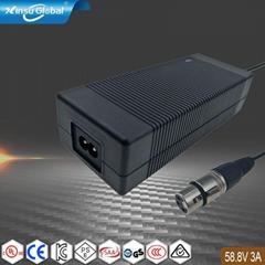 58.8V3A锂电池充电器 18650电池组充电器