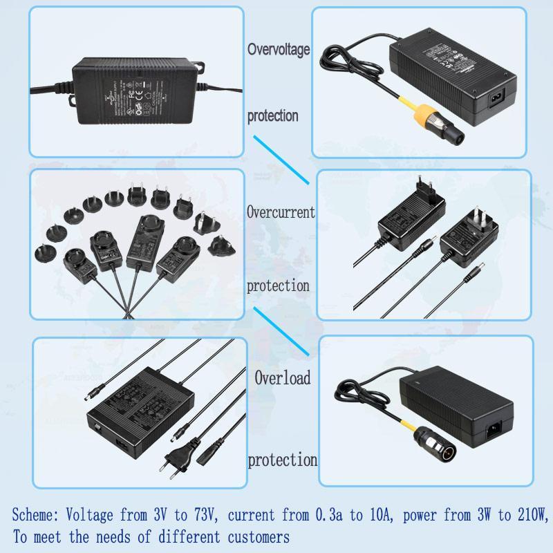 4.2V1A锂电池充电器 单节18650电池充电器 4