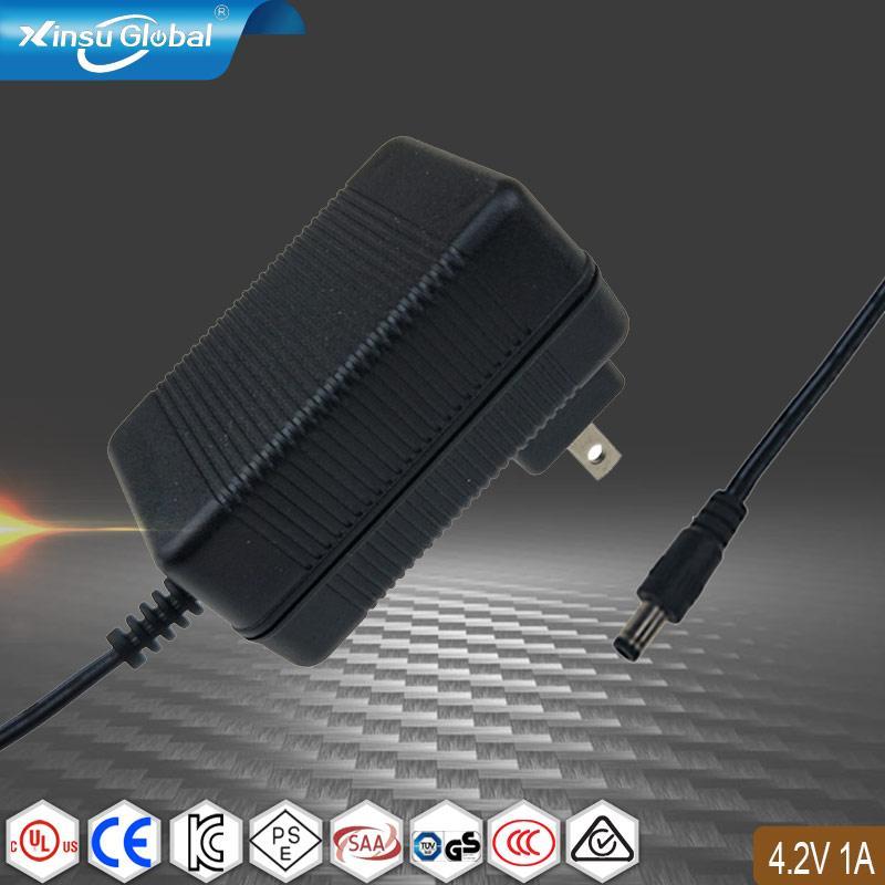 4.2V1A锂电池充电器 单节18650电池充电器 1