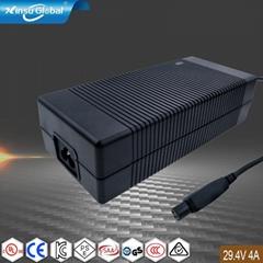 厂家直销高端29V4A充电器 29V充电器 电动摩托车充电器