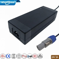 24v 3a ac dc Dual output audio power adapte
