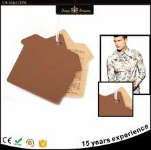 Paper jeans t-shirt garment accessories cusotm hand swing clothing tag with meta