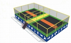 Small Scale Trampoline Park Four in One