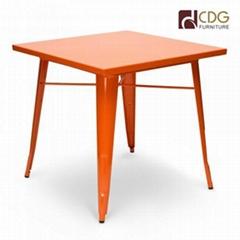 Standard Metal top metal leg dining tables