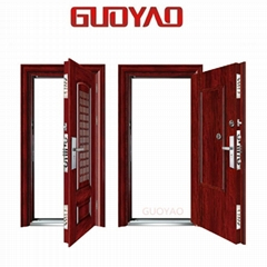 GUOYAO high quality Modern Safety Entry Steel Low Price Security Door made in ch