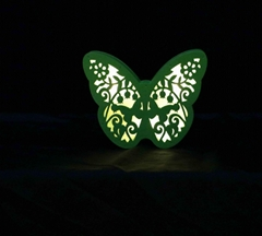 different design eco-friendly butterfly battery baby night light crafts