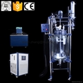 1 to 200 Liter Jacketed Glass Reactor with CE standard and China Factory Price