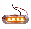 SMD 4 LED Clearance Side Marker Tail Lights Lamp Car Truck Trailer Boat 4