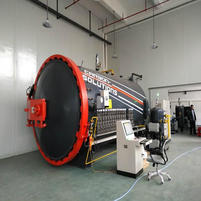 Industrial pressure vessel 1.0mpa automatic door operating composite autoclave 4