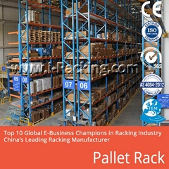 Heavy Duty Pallet Rack System for Industrial Warehouse Storage Solutions