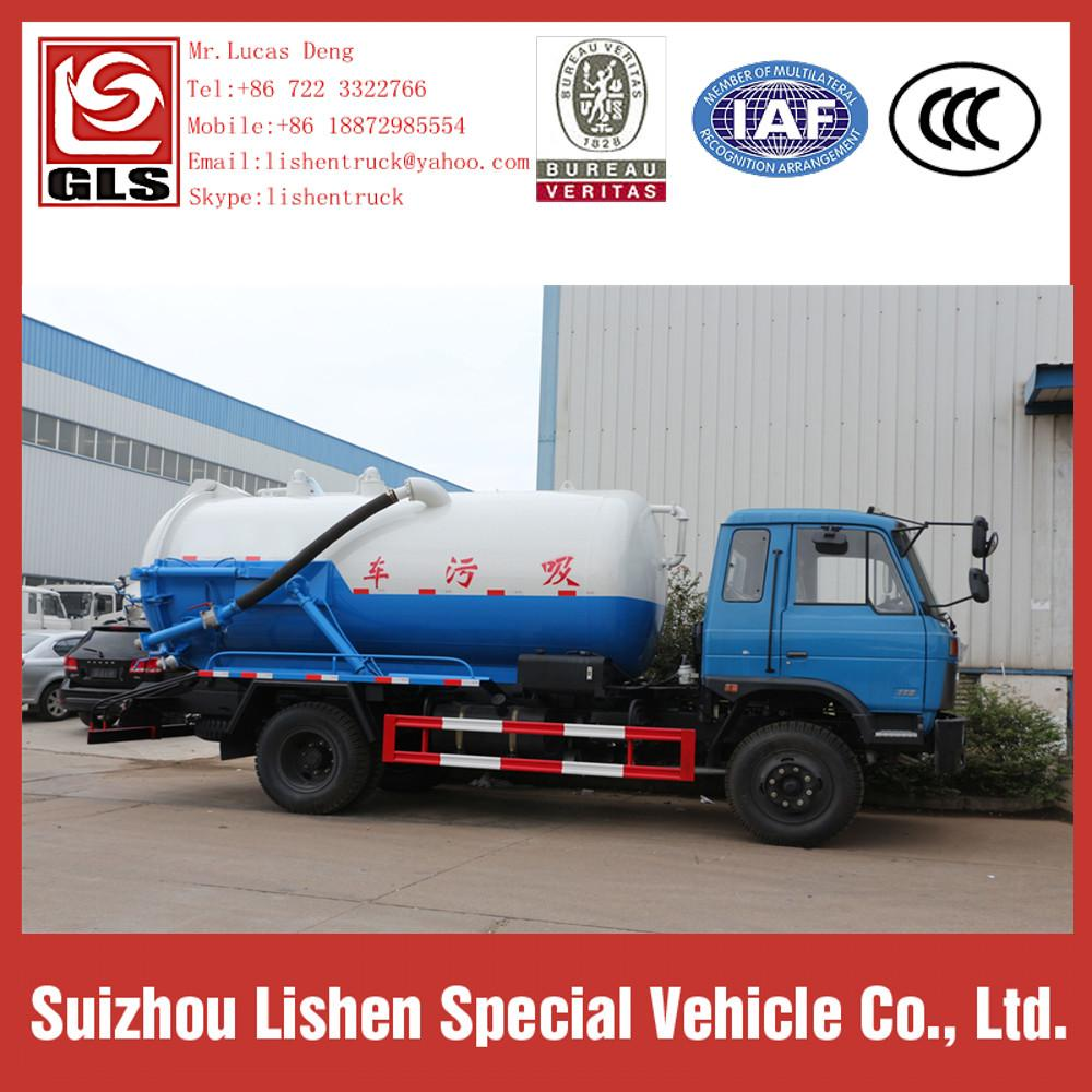 Dongfeng Vacuum Sewage Fecal Suction Truck 4